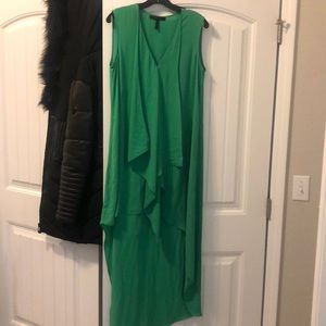 High/low emerald cocktail dress